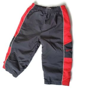 Nike Boy's Size 18 Months Red & Black Track Pants